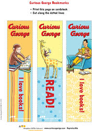 curious george bookmarks curiousgeorge