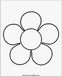 simple flower coloring pages qlyview com