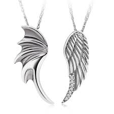 sterling silver wedding gifts angel wings 925 sterling silver couples necklaces pendants