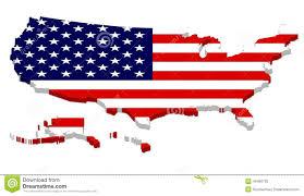 usa map with alaska and hawaii complete usa map with flag overlay stock illustration