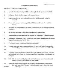 last chance comma dance 4th 8th grade worksheet lesson planet
