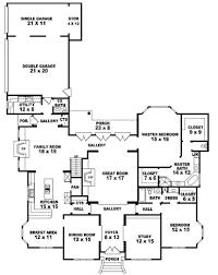 5 bedroom 4 bathroom house plans bedroom house plans story five plan bathroom 5 4 unforgettable