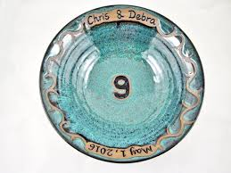 ninth anniversary gifts personalized 9th anniversary gift pottery ninth anniversary
