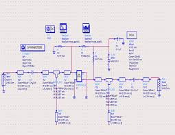 1 schematic diagram of input output matching network using ads