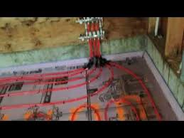 pex tubing layout and install for in slab radiant heat