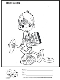 powerlifter weight training more sports coloring sheets flik
