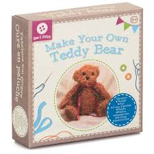 make your own teddy sewing kit arts crafts age 8