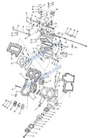 evinrude carburetor group parts for 1966 9 5hp 9622a outboard motor