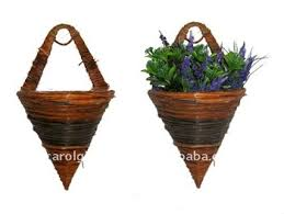 fern and rattan cone wall basket wall cone flower pot fern and