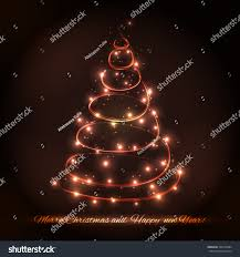 Christmas Tree Made Of Christmas Lights - abstract christmas tree made sparkles lights stock vector