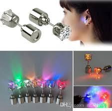 light up earring studs hot sale cool light up led light ear studs shinning earrings for