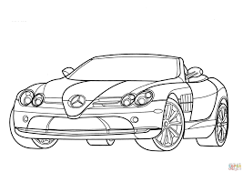 mercedes benz slr mclaren coloring page free printable coloring
