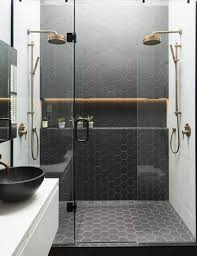 black tile bathroom ideas best 25 black hexagon tile ideas on subway tile