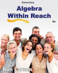 elementary algebra algebra within reach 6th edition cengage
