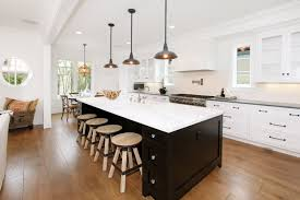 Kitchen Cabinets Kits by Two Tone Wood Kitchen Cabinets White Painted Walls Black Rectangle