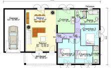 plan maison 3 chambres plain pied garage plan maison plain pied 4 chambres avec suite parentale amazing plan