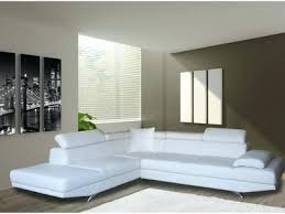 canapé angle cuir blanc canape angle cuir blanc dangle 5 places gauche canape d angle cuir