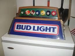 bud light pool table light rare beer budweiser bud dry pool table florescent lights good working