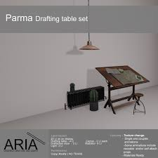 Drafting Table Set Second Life Marketplace Aria Parma Drafting Table Set Pg