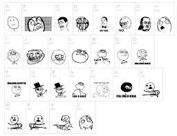 All The Meme Faces - meme cartoon faces dingbat by fontsi com