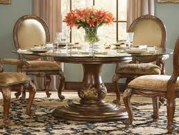 Glass And Wood Round Dining Table Bedroom And Living Room Image - Formal round dining room tables