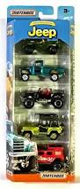 matchbox jeep willys 4x4 amazon com matchbox anniversary edition jeep 5 pack toys u0026 games