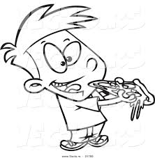 boy eating pizza clipart clipartxtras