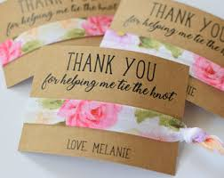 thank you favors hair tie favors etsy