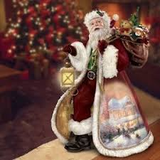 96 best kinkade santa ornaments images on santa