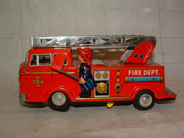 tonka fire truck toy nomura bell fire engine battery tin toy ebay vintage battery