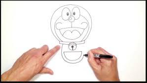 tutorial gambar kepala doraemon gambar sketsa kepala doraemon wallpaper keren