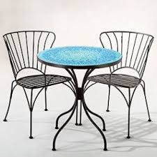 Pier One Bistro Table And Chairs Mosaic Bistro Table Set Foter