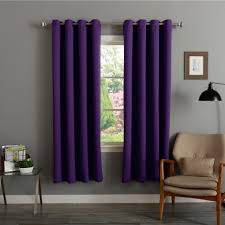 Insulated Thermal Curtains Home Grommet Top Thermal Insulated 72 Inch Blackout Curtain