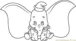 dumbo setting coloring free dumbo coloring pages