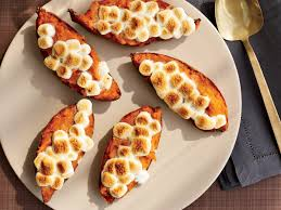 baked sweet potatoes with toasted marshmallows recipe