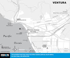 Map Of Cambria Ca Pacific Coast Route Ventura And Oxnard California Road Trip Usa