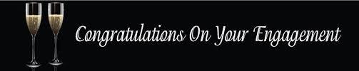congratulations engagement banner congratulations on your engagement banner banners and balloons