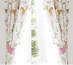 Horse Kitchen Curtains Horse Show Pencil Pleat Curtains 66x54