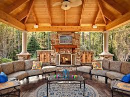 covered outdoor living spaces outdoor fireplace plans hgtv