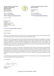 appendix 7 correspondence with the ecb report of the joint