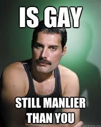 Gaay Meme - freddie mercury gay memes quickmeme