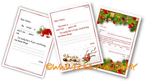 printable sample ready letter to santa claus template