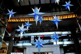 nyc decorations at time warner center editorial photo