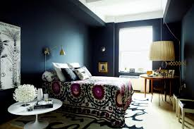 Blue Purple Bedroom - design fixation navy blue purple home decor inspiration