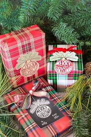 christmas plaid wrapping paper christmas wrapping paper and gift tags for christmas