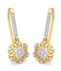 bluestone earrings bluestone 18k yellow gold diamond leslie earrings buy bluestone