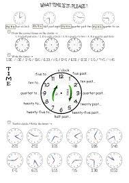 1 time worksheet