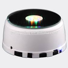 led light base for crystal round mirror led light base for crystals rotating base for crystal
