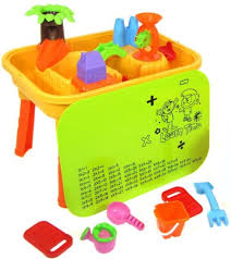 water table with cover sand and water table tray pit play activity with 20 accessories toys