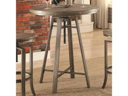 adjustable height bar table coaster 10181 industrial bar table with swivel adjustable height